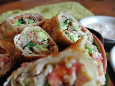 Avocado Club Egg Rolls An Inspired Cook