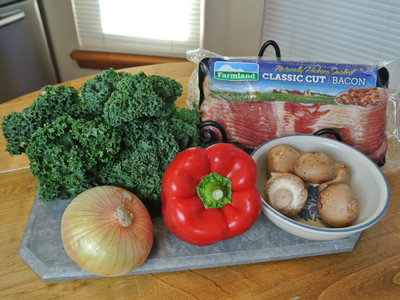 Kale Stir Fry with Bacon | An Inspired Cook