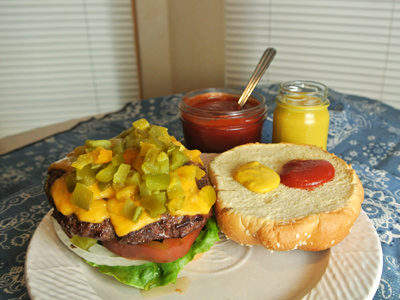 Hatch-Green-Chile-and-Cheese-Burgers-with-Homemade-Mustard-and-Ketchup-2